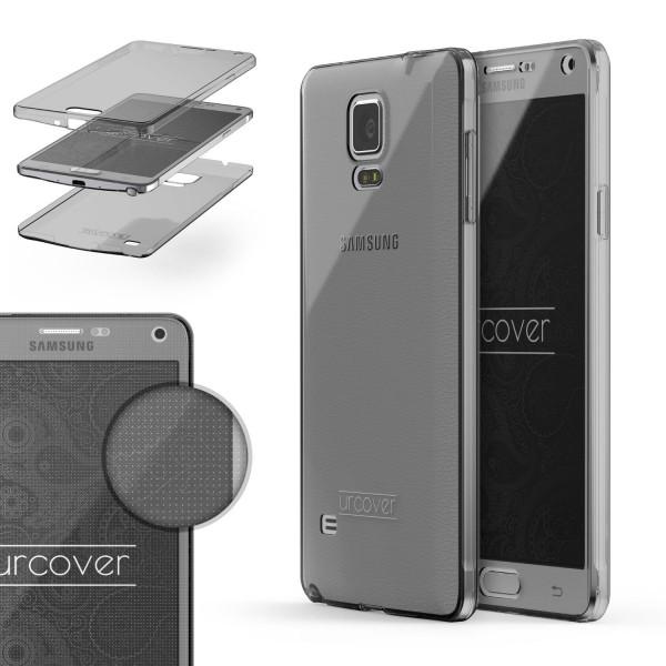 Samsung Galaxy Note 4 TPU Case 360 Grad Schutz Hülle Etui Cover Touch Case