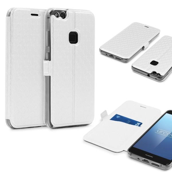 Huawei P10 Lite Klapp Handy Schutz Hülle Sichtfenster Kartenfach Standfunktion