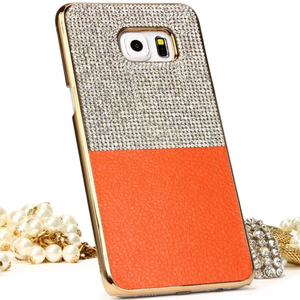 Urcover Samsung Galaxy S6 Edge Plus Schutz Hülle Glitzer Bling Case Cover Strass