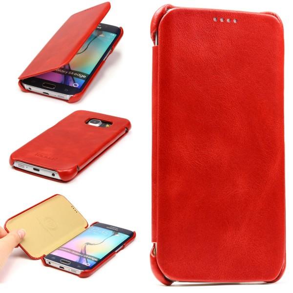 Urcover® Samsung Galaxy S6 Edge Kartenfach Schutzhülle Case Cover Etui Tasche
