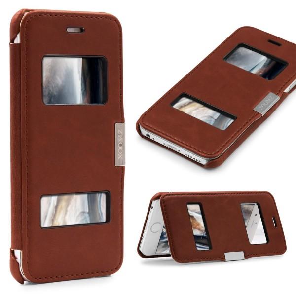 Urcover® Apple iPhone 6 / 6s Kunstleder View Wallet Schutzhülle Case Cover Flip