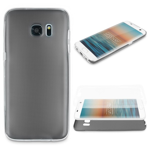 Samsung Galaxy S7 Edge 360 GRAD RUNDUM SCHUTZ Metalloptik TPU Hülle Cover Case