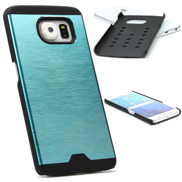 Urcover® Samsung Galaxy S6 Schutzhülle Back Case Alu Cover Schale Bumper Etui