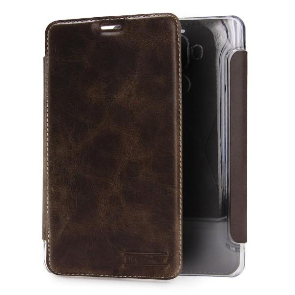 Urcover® Huawei Mate 9 Echt Leder Wallet Handyhülle Tasche Schale Schutz Cover Kartenfach Case