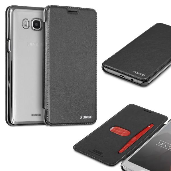 Samsung Galaxy J7 (2016) Schutzhülle Wallet Klapp Cover Flip Case Tasche Etui