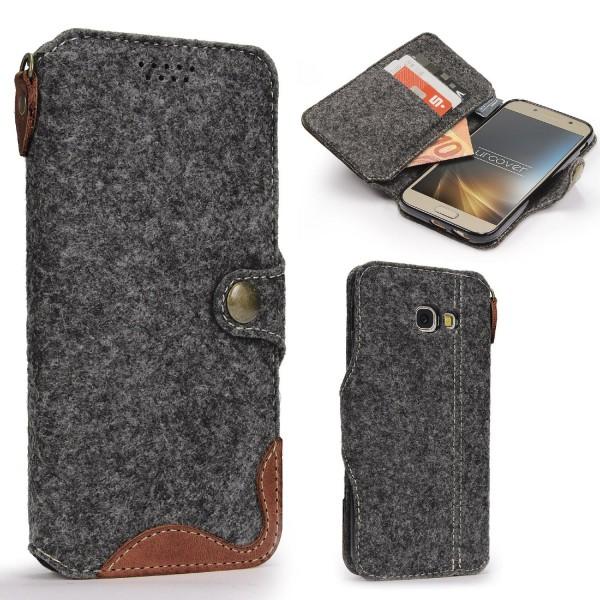 Urcover® Samsung Galaxy A5 (2017) Wallet Handyhülle Aufklapp Cover Kartenfach