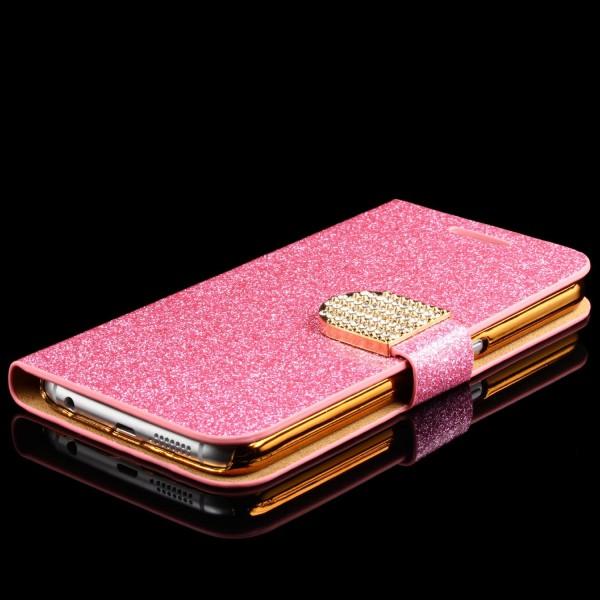 Samsung Galaxy S6 Strass Bling Diamant Handy Flip Hülle Glitzer Wallet