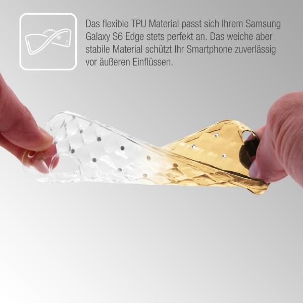 Samsung Galaxy S6 Edge Luxus TPU Handy Hülle Schutz Cover Glitzer Diamant Case