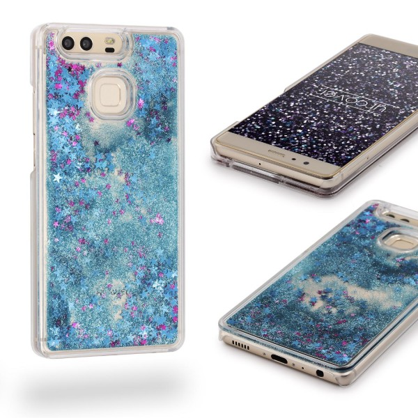Huawei P9 TPU Glitter Liquid Case Cover Schutz Hülle Trend Glitzer Wasser