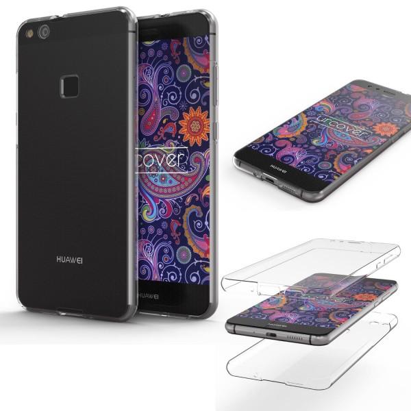 Huawei P10 Lite TPU Case 360 Grad Rundum Schutz Hülle Etui Cover Touch Case