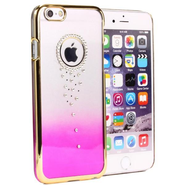 Urcover® Handy Schutz Hülle für Apple iPhone 6 / 6s Back Case Glitzer Hard Cover Tasche