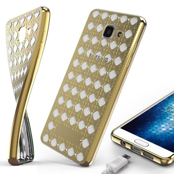 Urcover® Samsung Galaxy A7 (2016) Silikon Back Case Oriental Cover Schutzhülle