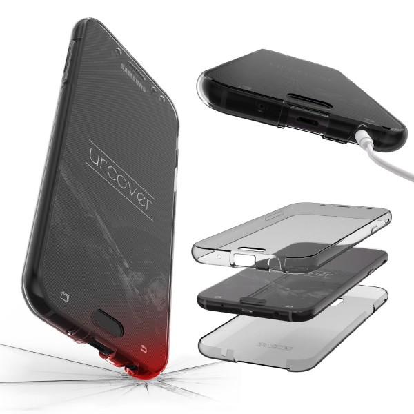 Samsung Galaxy J7 (2017 Europa) 360 Grad Rundum Schutz Hülle Case TPU Etui Cover