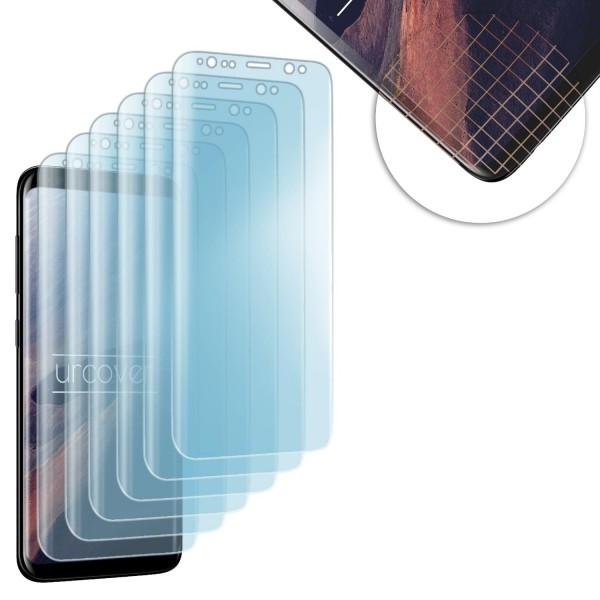 Samsung Galaxy S8 Plus gerundete TPU Schutz-Folie komplett Display transparent