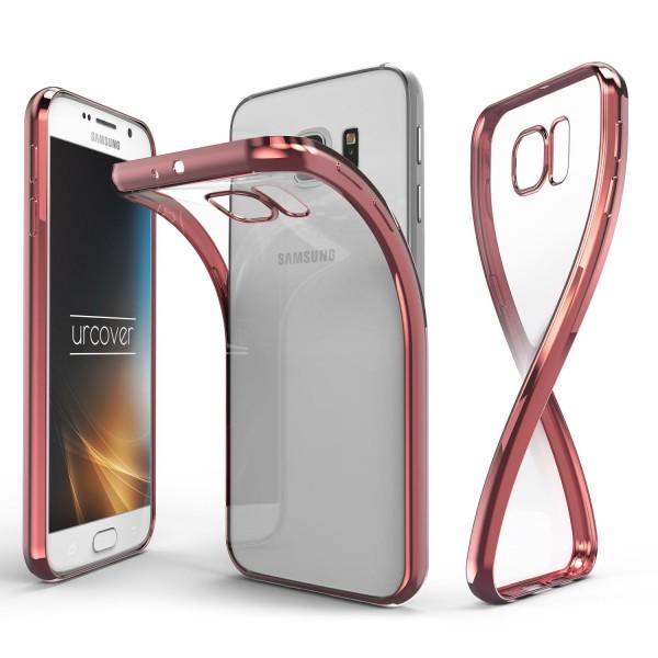 Samsung Galaxy S6 Hülle Spiegelrand klar Slim Cover Tasche Back Case Etui
