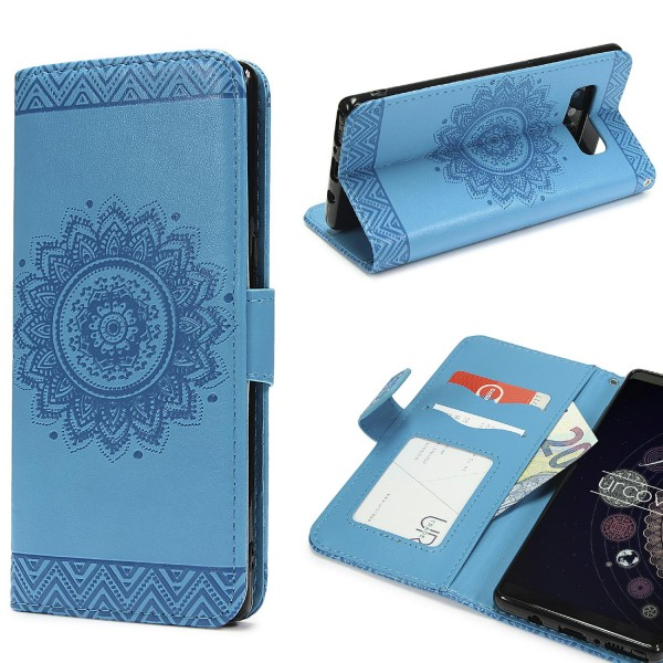 Urcover® Samsung Galaxy Note 8 Schutz Hülle Wallet Klapp Schale Lotus Pattern Case Cover