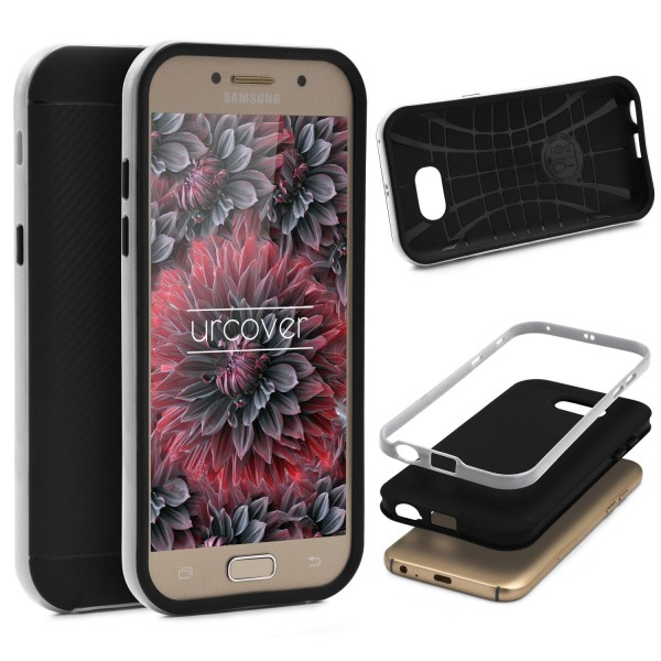 Samsung Galaxy A5 (2017) Back Case Carbon Style Cover Dual Layer Schutzhülle TPU