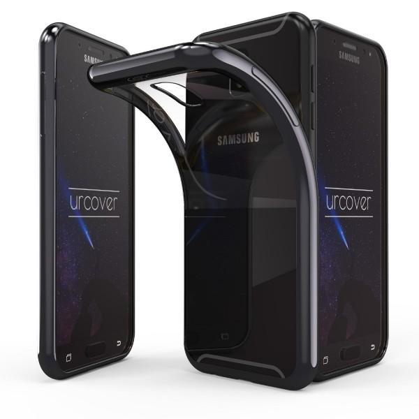 Urcover® Samsung Galaxy J5 (2017 Europa) Handy Hülle Spiegelrand klar Slim Cover Tasche Back Case