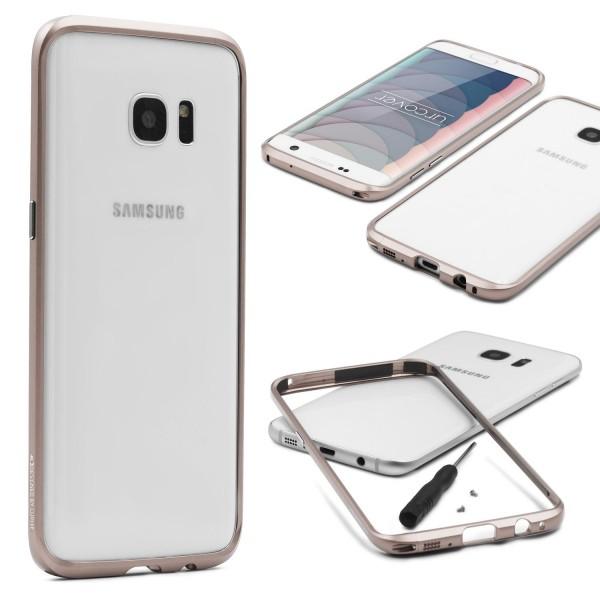 Samsung Galaxy S7 Edge Alu Bumper Schutzhülle Schraubversion Schutz Rahmen Hülle