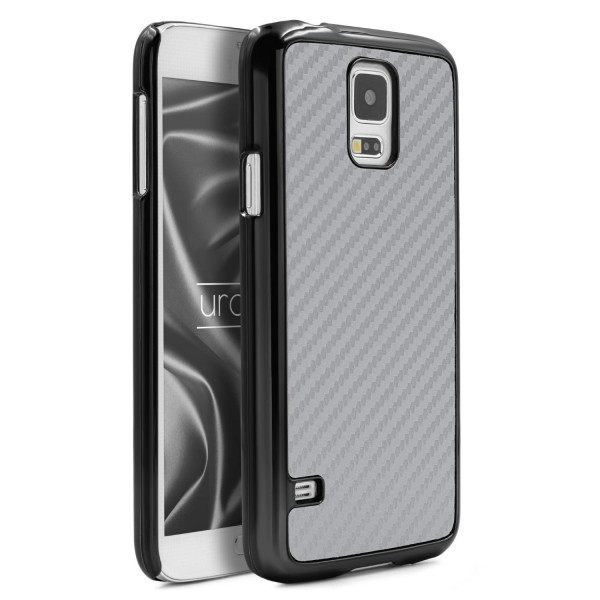 Urcover Samsung Galaxy S5 Carbon Style Schutz Hülle Backcase Cover Tasche Schale