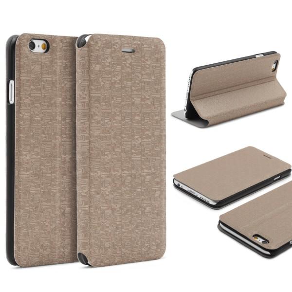 Urcover® Apple iPhone 6 Plus / 6s Plus Hülle Flip Case Cover Booksyle Wallet