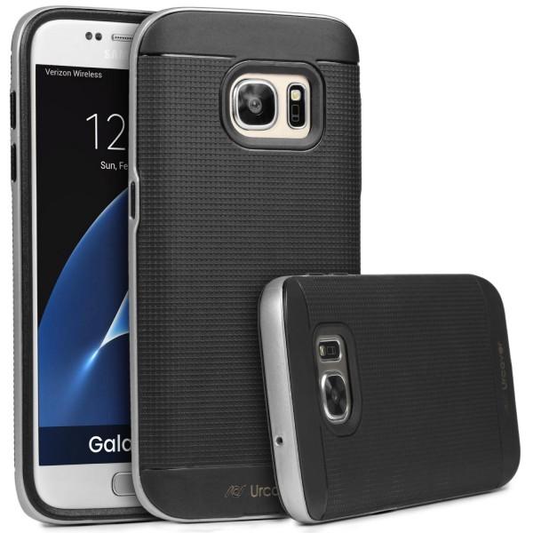 Samsung Galaxy S7 Case Slim Dual Layer Handy Schutz Hülle Case Cover Hybrid