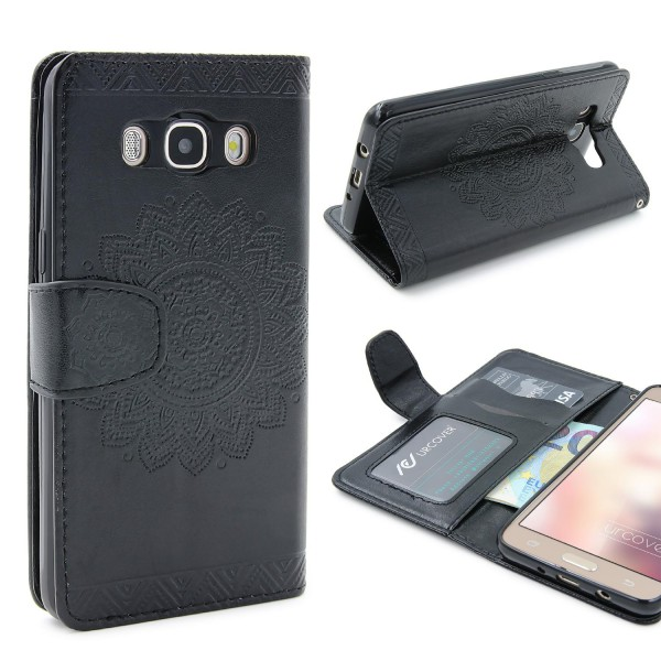 Samsung Galaxy J5 (2016) Schutz Hülle Wallet Klapp Schale Lotus Pattern Case
