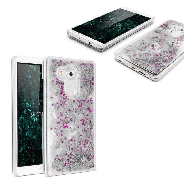 Huawei Mate 8 TPU Glitter Liquid Case Cover Schutz Hülle Trend Glitzer