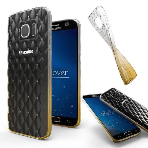 Samsung Galaxy S7 Luxus TPU Handy Hülle Schutz Cover Glitzer Diamant Schale Case