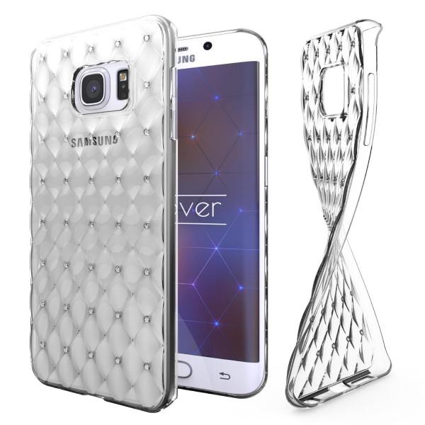 Samsung Galaxy S6 Edge Plus Luxus TPU Handy Hülle Schutz Cover Glitzer Diamant