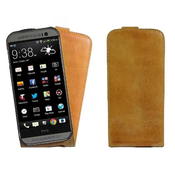 Akira HTC M2 Handmade Echtleder Klapp Schutzhülle Flip cover Wallet Case Schale