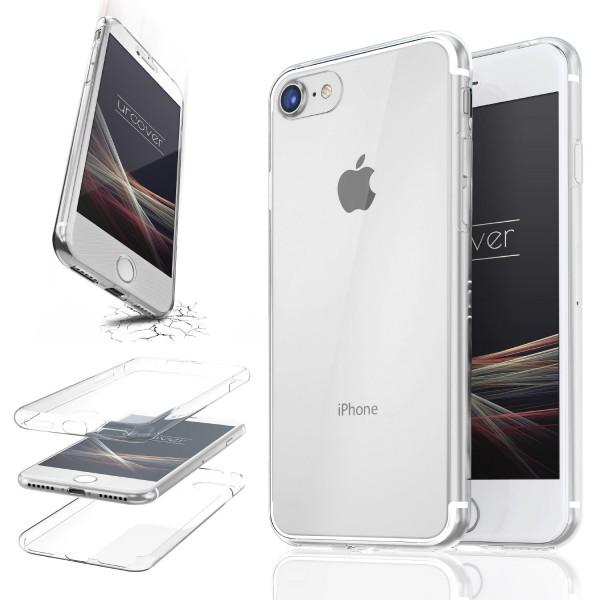 Apple iPhone 7 TPU Case 360 Grad Schutz Hülle Etui Cover Touch Case