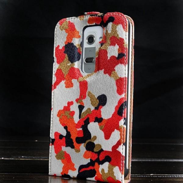 Urcover® LG G2 Kunststoff Flip Schutzhülle Tarn Optik Case Cover
