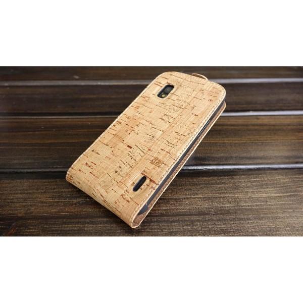Urcover® LG Nexus 4 Kork Flip Schutz Hülle Case Cover Wallet Etui Schale
