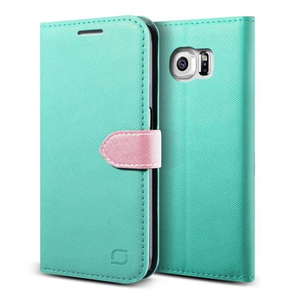 Urcover® Samsung Galaxy S6 Edge Klapp Schutz Hülle Flip Wallet Stand Case Cover