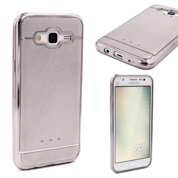 Urcover® Samsung Galaxy J5 (2015) Schutz Hülle Metall Optik Silikon Soft Case