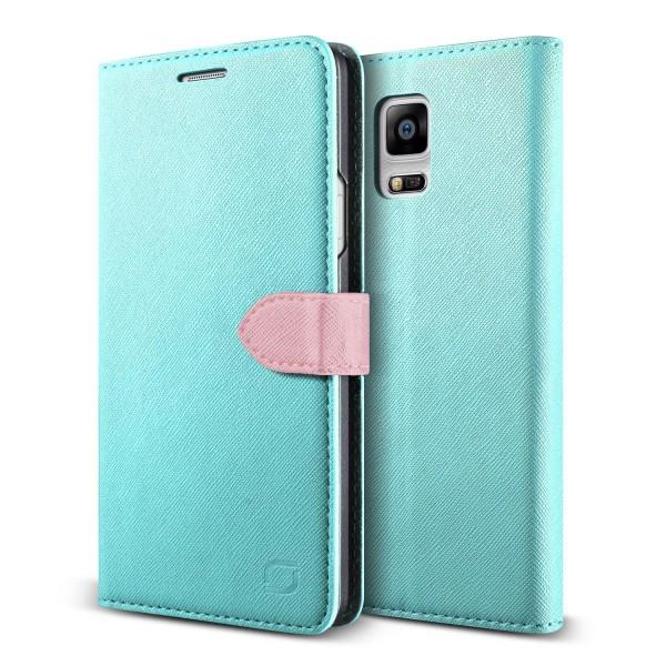 Urcover® Samsung Galaxy Note 4 Klapp Schutz Hülle Flip Wallet Stand Case Cover