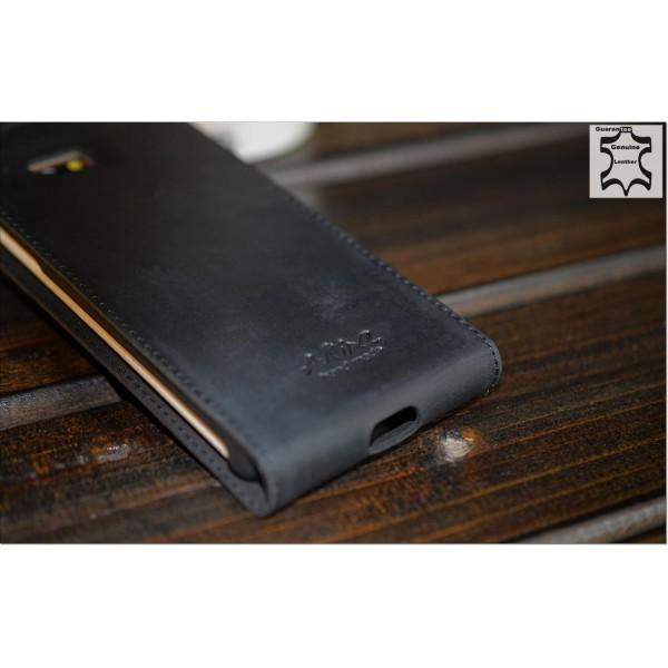 Akira HTC Desire 600 Handmade Echtleder Schutzhülle Flip Wallet Ledertasche Etui