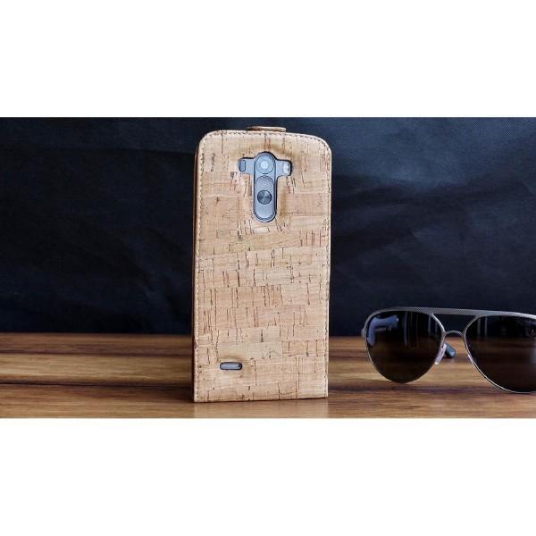Urcover® LG G3 Kork Flip Schutz Hülle Case Cover Wallet Etui Schale