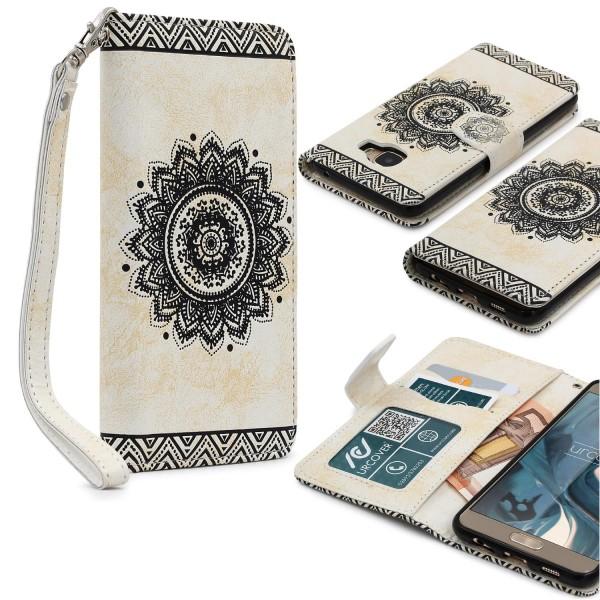 Samsung Galaxy C5 Wallet Klapp Schutz Hülle Stand Flip Case Cover Etui Schale