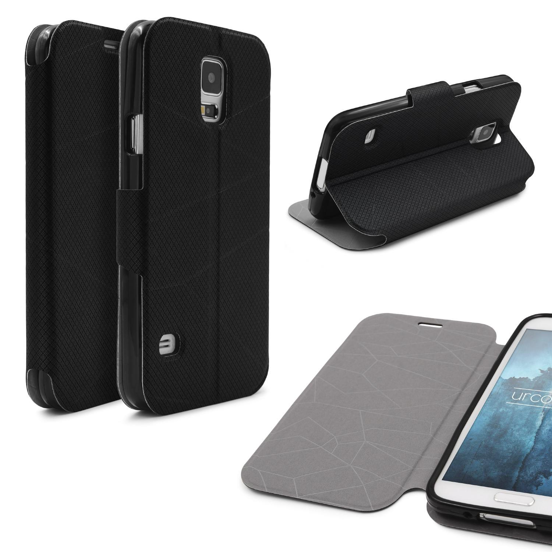 Urcover Handy Schutz Hülle für Samsung Galaxy S5 Soft Case Cover Tasche Etui Flip Book Taschen Galaxy S5 Smartphone Samsung