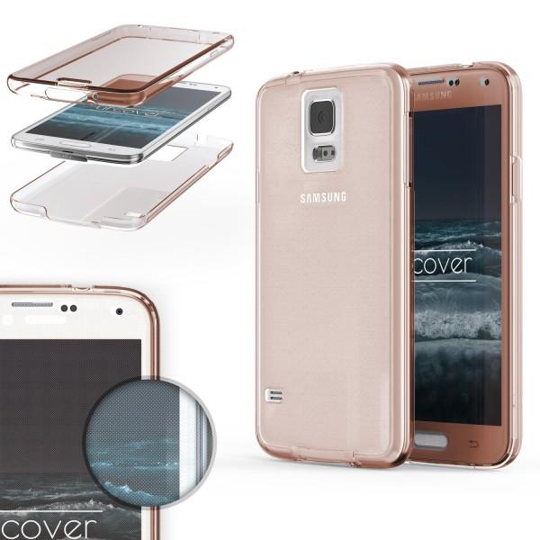 Samsung Galaxy S5 TPU Case 360 Grad Schutz Hülle Etui Cover Touch Case