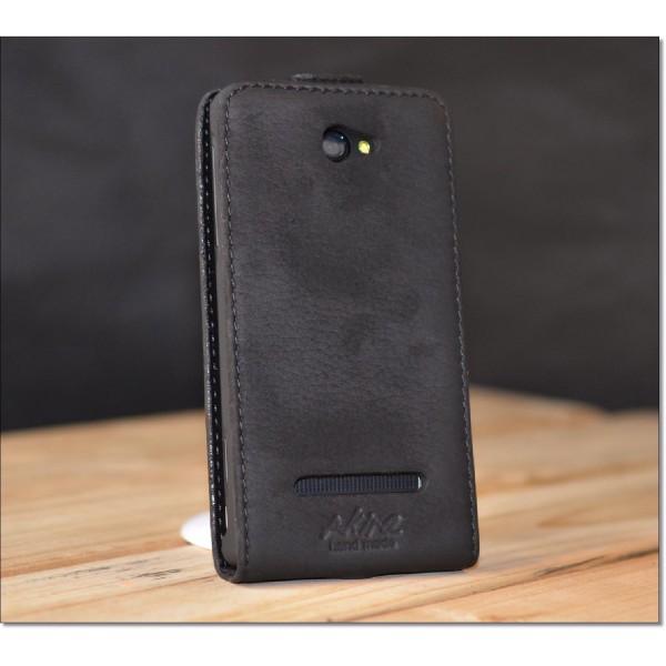 Akira HTC 8s Handmade Echtleder Schutzhülle Flip Case Ledertasche Wallet Cover