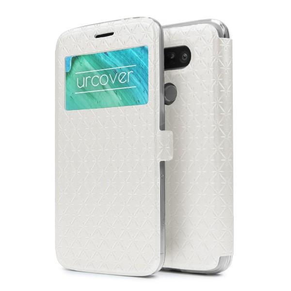 LG G5 Sichtfenster Wallet Handy Schutz Hülle View Cover Flip Case Klapp Etui