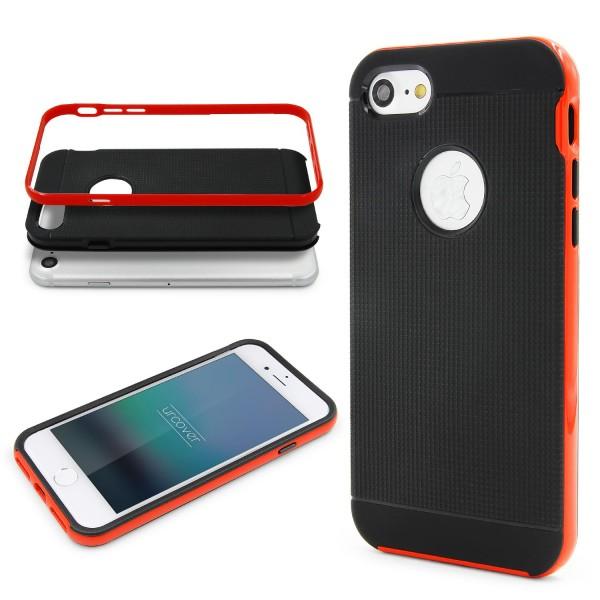 Apple iPhone 7 Schutz Hülle Carbon Style Karbon Optik TPU Case Cover Etui Bumper
