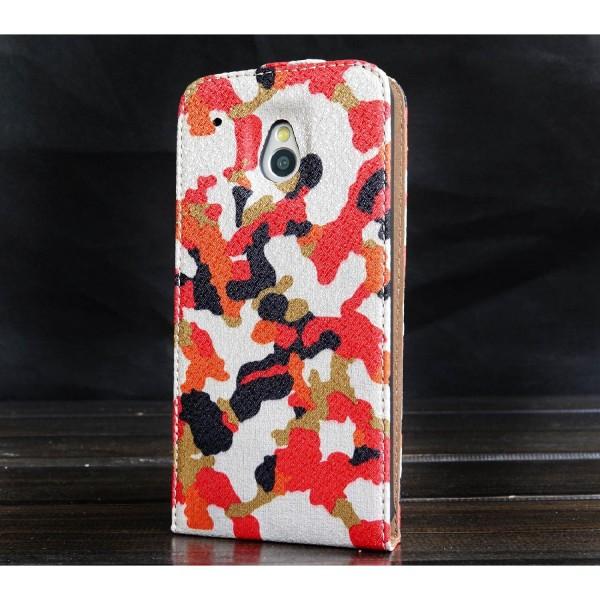 Urcover® HTC M7 Mini Kunststoff Flip Schutzhülle Tarn Optik Case Cover
