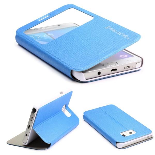 Urcover® Samsung Galaxy Note 5 View Case Schutz Hülle Wallet Cover Etui Tasche Struktur