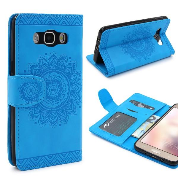 Samsung Galaxy J7 (2016) Wallet Klapp Schutz Hülle Stand Flip Case Cover Etui