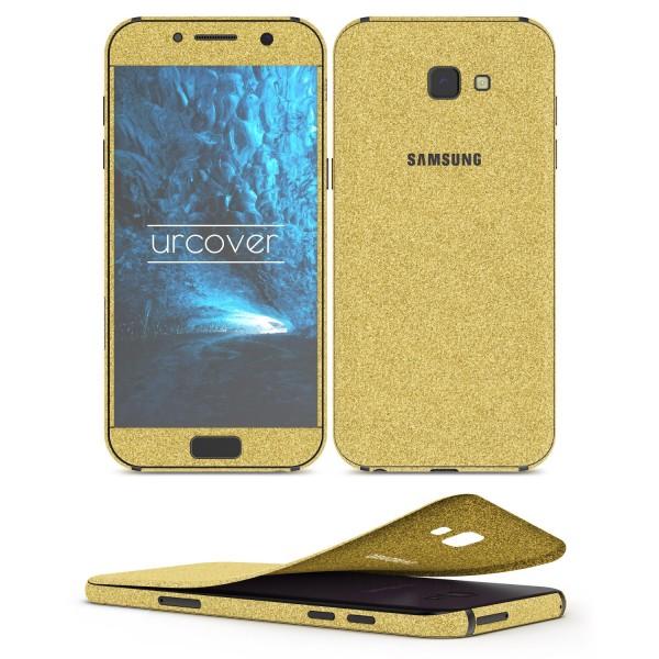 Samsung Galaxy A3 (2017) Glitzer Folie Aufkleben Regenbogen Farbig Diamond Bling
