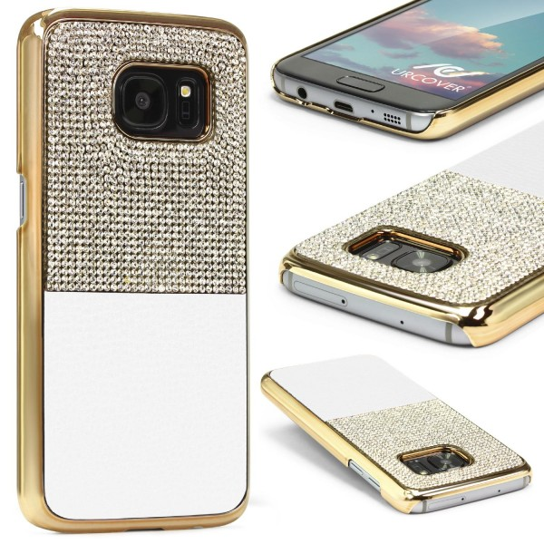Urcover® Samsung Galaxy S7 Schutz Hülle Glitzer Bling Back Case Cover Strass